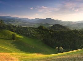 Hügeln von Parma, Italien
