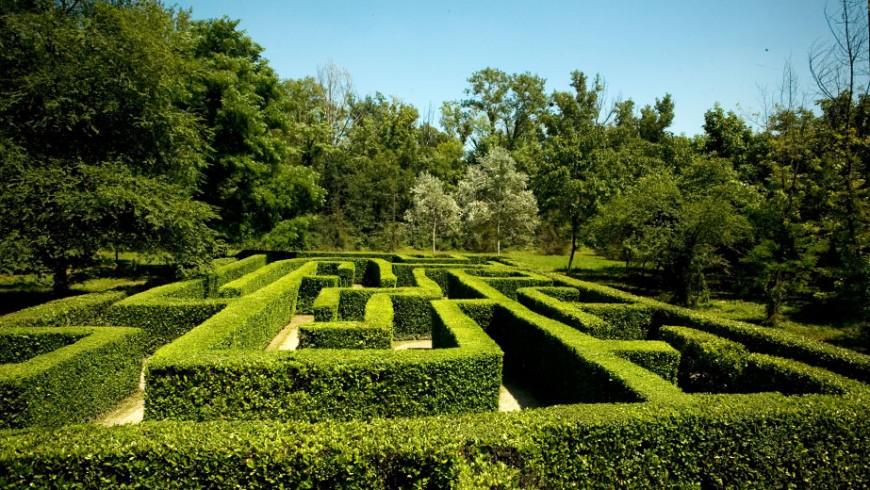 Das Labyrinths des Parks der Vorzeit di Cremona