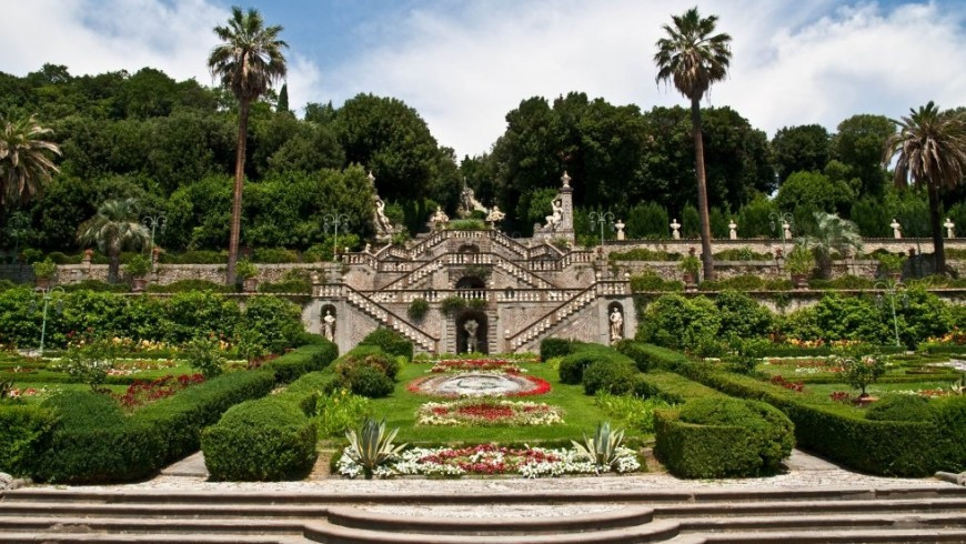 Villa Garzoni, mit Garten und Labyrinth
