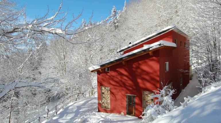 Eine Hütte im National Park von Sila