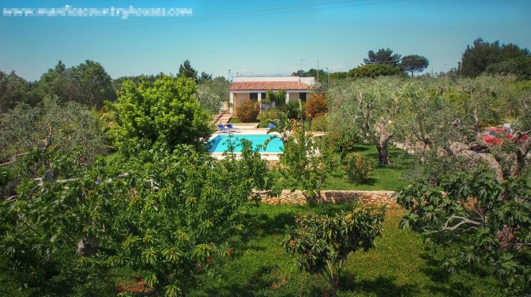 Eine Villa im Landesinnern von Salento
