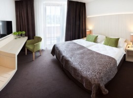 Zimmer im umweltfreundlichen Hotel Astoria, Bled