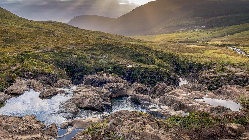 Fairy Pools Wasserfalle , Schottland