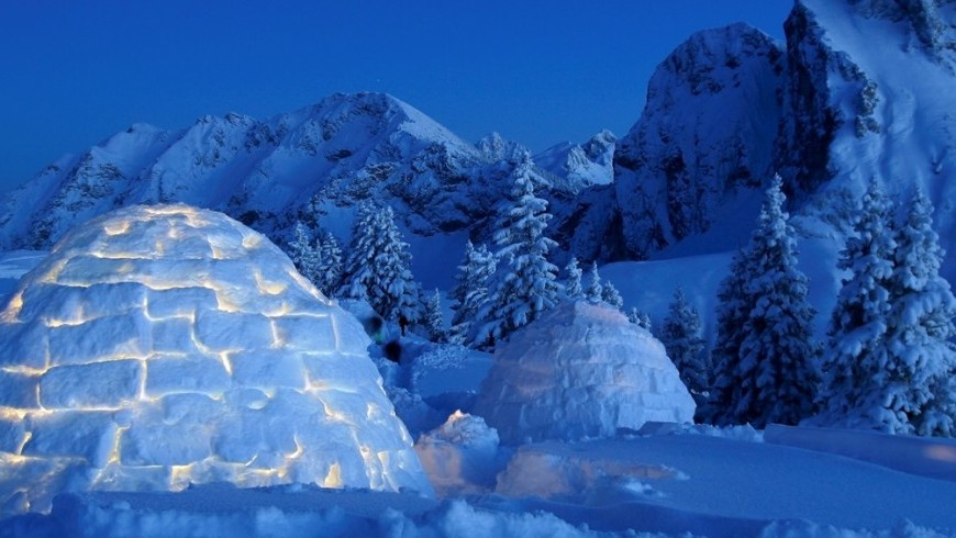 Eine Nacht im Igloo Ecobnb