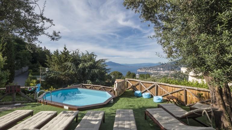Ein Ferienhaus in der Natur in Sorrento