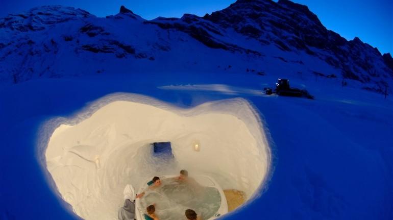 Ökohotel Iglu Dorf in Stockhorn, Schweiz