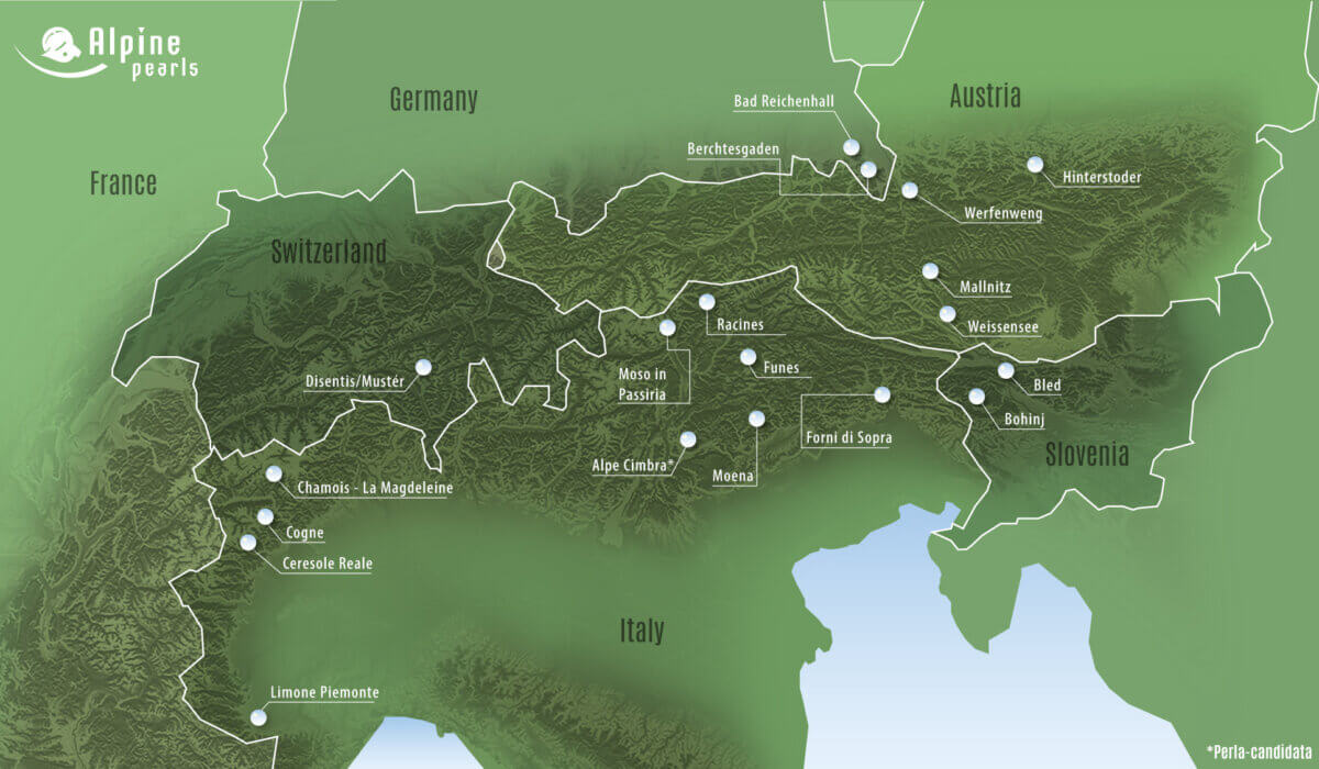 Die grünen Reiseziele der Alpine Pearls Gift Card